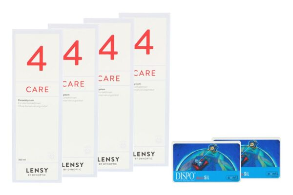 Dispo MultiSiL 2 x 6 Monatslinsen + Lensy Care 4 Halbjahres-Sparpaket