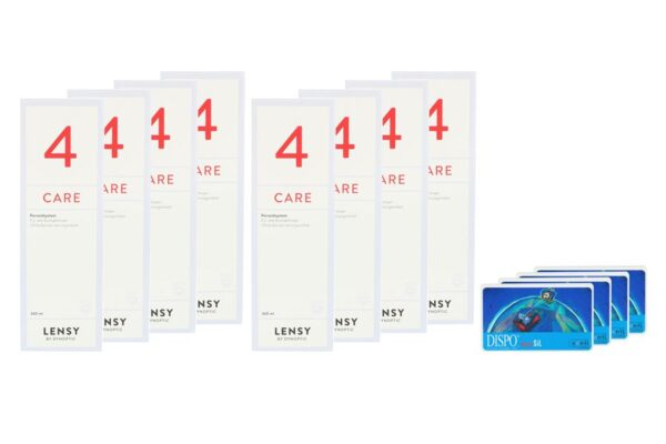 Dispo MultiSiL 4 x 6 Monatslinsen + Lensy Care 4 Jahres-Sparpaket