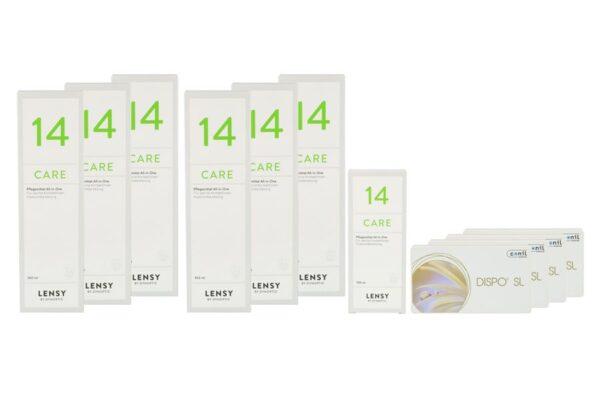 Dispo SL 4 x 6 Monatslinsen + Lensy Care 14 Jahres-Sparpaket