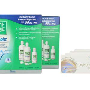 Dispo SL Toric 4 x 6 Monatslinsen + Opti Free Pure Moist Jahres-Sparpaket