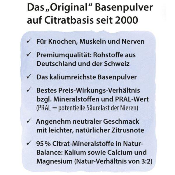 Dr. Jacob's Basenpulver Citrat-Basen-Original