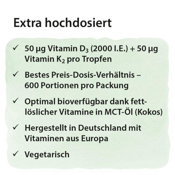 Dr. Jacobs Vitamin D3 K2 Öl forte