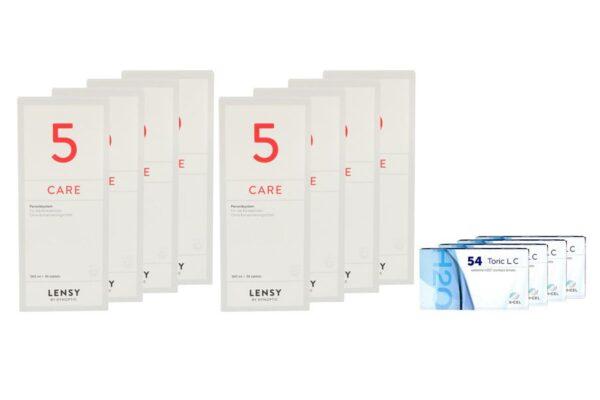 Extreme H2O 54 Toric LC 4 x 6 Monatslinsen + Lensy Care 5 Jahres-Sparpaket
