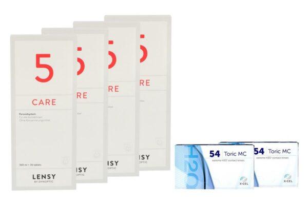 Extreme H2O 54 Toric MC 2 x 6 Monatslinsen + Lensy Care 5 Halbjahres-Sparpaket