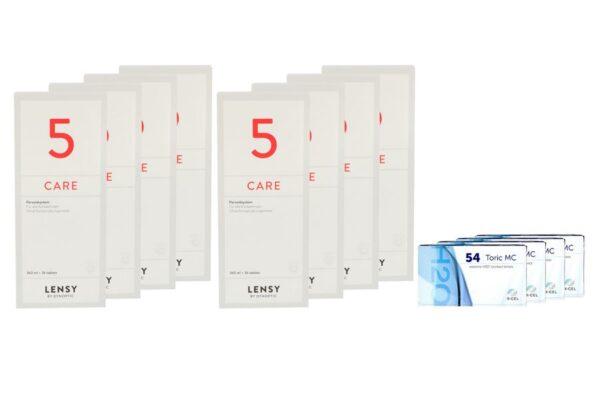 Extreme H2O 54 Toric MC 4 x 6 Monatslinsen + Lensy Care 5 Jahres-Sparpaket
