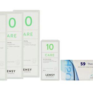 Extreme H2O 59 Thin 2 x 6 Monatslinsen + Lensy Care 10 Halbjahres-Sparpaket