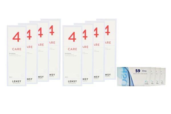 Extreme H2O 59 Xtra 4 x 6 Monatslinsen + Lensy Care 4 Jahres-Sparpaket