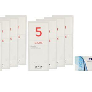 Extreme H2O 59 Xtra 4 x 6 Monatslinsen + Lensy Care 5 Jahres-Sparpaket
