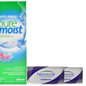 Fresh Look Colorblends 2 x 2 Monatlinsen + Opti-Free PureMoist All-in-One 300 ml