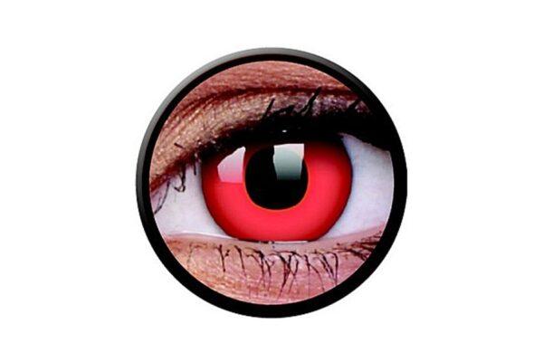 Funny Lens 2 Motiv-Drei-Monatslinsen Red Devil