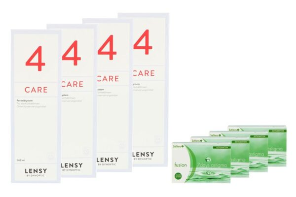 Fusion 7 Days Astigma 4 x 12 Wochenlinsen + Lensy Care 4 Halbjahres-Sparpaket