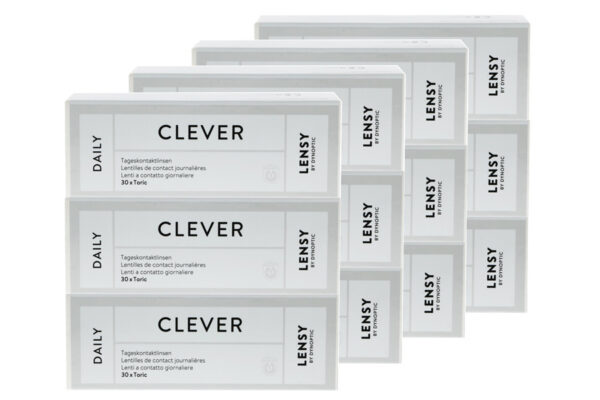 Lensy Daily Clever Toric 4 x 90 Tageslinsen Sparpaket 6 Monate