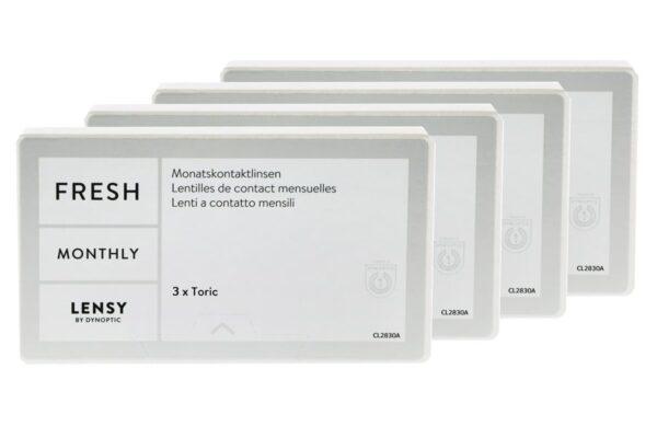 Lensy Monthly Fresh Toric 4 x 3 Monatslinsen