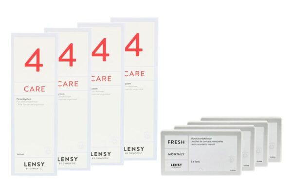 Lensy Monthly Fresh Toric 4 x 3 Monatslinsen + Lensy Care 4 Halbjahres-Sparpaket