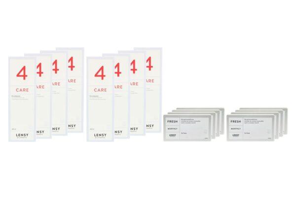 Lensy Monthly Fresh Toric 8 x 3 Monatslinsen + Lensy Care 4 Jahres-Sparpaket
