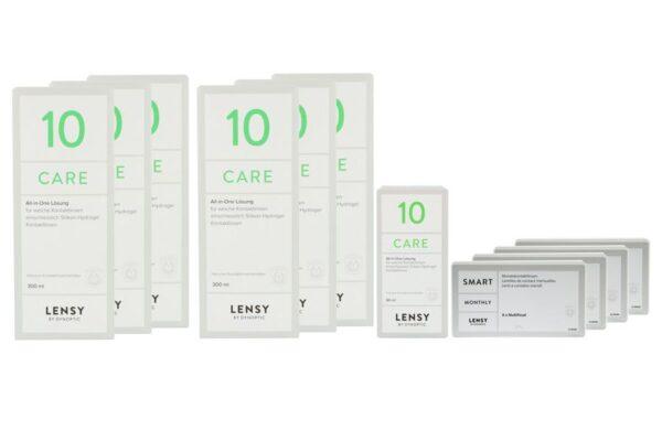 Lensy Monthly Smart Multifocal 4 x 6 Monatslinsen + Lensy Care 10 Jahres-Sparpaket