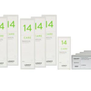 Lensy Monthly Smart Multifocal 4 x 6 Monatslinsen + Lensy Care 14 Jahres-Sparpaket
