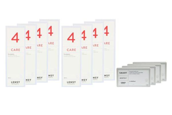 Lensy Monthly Smart Multifocal 4 x 6 Monatslinsen + Lensy Care 4 Jahres-Sparpaket