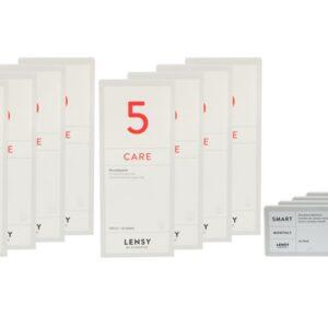 Lensy Monthly Smart Toric 4 x 6 Monatslinsen + Lensy Care 5 Jahres-Sparpaket