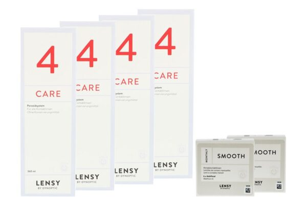 Lensy Monthly Smooth Multifocal 2 x 6 Monatslinsen + Lensy Care 4 Halbjahres-Sparpaket