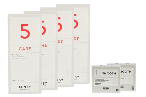 Lensy Monthly Smooth Multifocal 2 x 6 Monatslinsen + Lensy Care 5 Halbjahres-Sparpaket