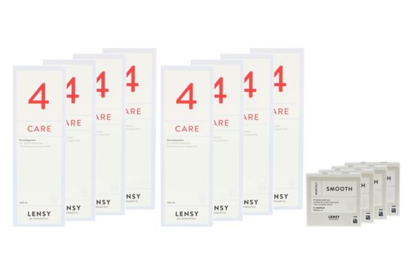 Lensy Monthly Smooth Multifocal 4 x 6 Monatslinsen + Lensy Care 4 Jahres-Sparpaket