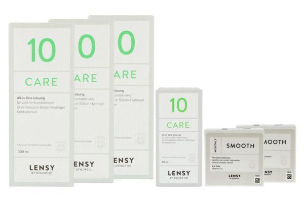 Lensy Monthly Smooth Toric 2 x 6 Monatslinsen + Lensy Care 10 Halbjahres-Sparpaket