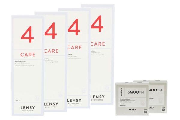 Lensy Monthly Smooth Toric 2 x 6 Monatslinsen + Lensy Care 4 Halbjahres-Sparpaket