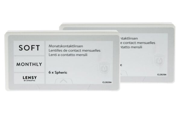 Lensy Monthly Soft Spheric 2 x 6 Monatslinsen