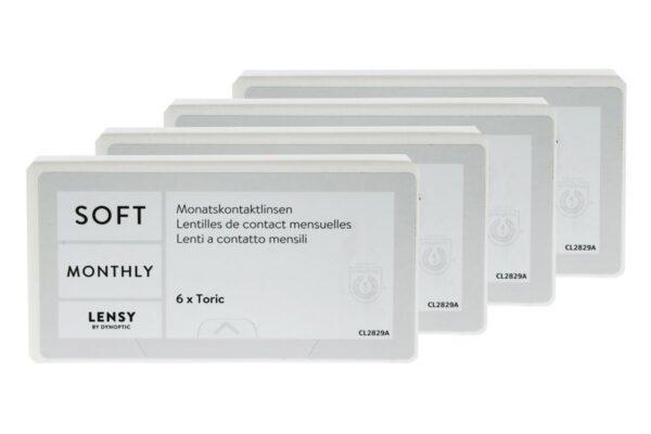Lensy Monthly Soft Toric 4 x 6 Monatslinsen