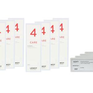 Lensy Monthly Soft Toric 4 x 6 Monatslinsen + Lensy Care 4 Jahres-Sparpaket