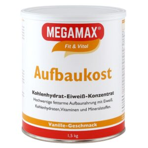 MEGAMAX® Fit & Vital Concentré de glucides et de protéines pour l'alimentation de base, goût vanille