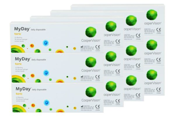 MyDay daily disposable toric 4 x 90 Tageslinsen Sparpaket 6 Monate