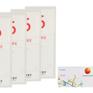 Proclear 2 x 6 Monatslinsen + Lensy Care 5 Halbjahres-Sparpaket
