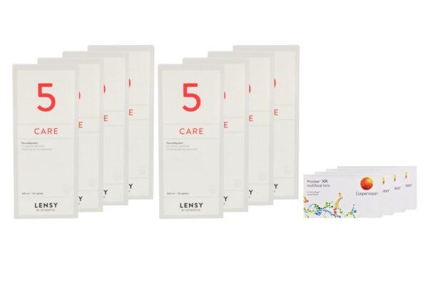 Proclear Multifocal Toric XR 4 x 6 Monatslinsen + Lensy Care 5 Jahres-Sparpaket