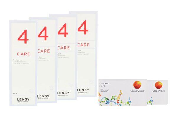 Proclear Toric 2 x 6 Monatslinsen + Lensy Care 4 Halbjahres-Sparpaket