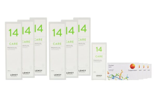 Proclear Toric 4 x 6 Monatslinsen + Lensy Care 14 Jahres-Sparpaket