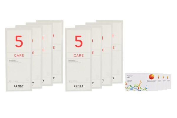 Proclear Toric 4 x 6 Monatslinsen + Lensy Care 5 Jahres-Sparpaket