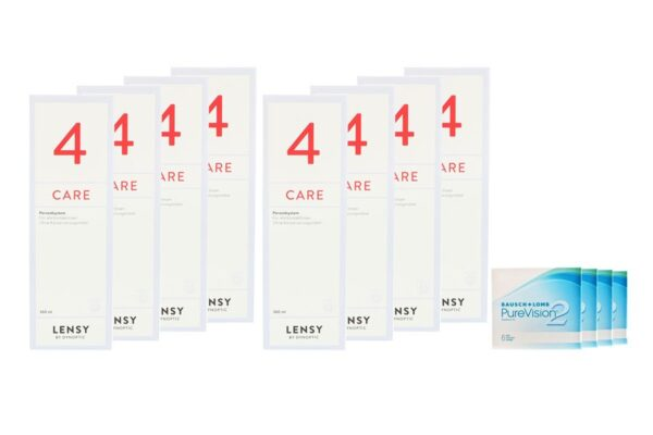 Pure Vision 2 HD 4 x 6 Monatslinsen + Lensy Care 4 Jahres-Sparpaket