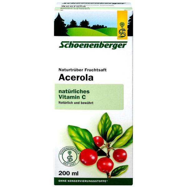 Schoenenberger® Acerola, Jus de fruit naturel trouble