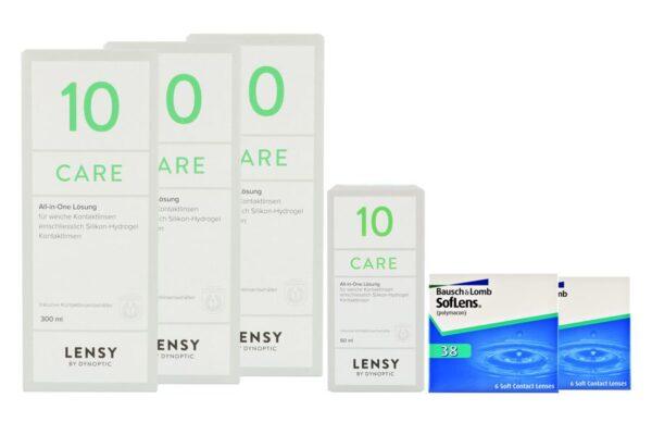 SofLens 38 2 x 6 Monatslinsen + Lensy Care 10 Halbjahres-Sparpaket