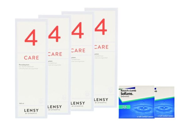 SofLens 38 2 x 6 Monatslinsen + Lensy Care 4 Halbjahres-Sparpaket