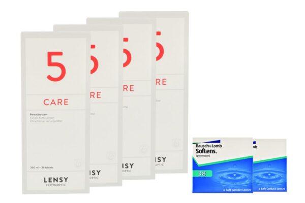 SofLens 38 2 x 6 Monatslinsen + Lensy Care 5 Halbjahres-Sparpaket