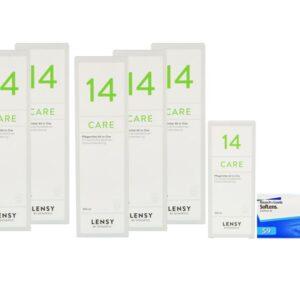SofLens 59 4 x 6 Monatslinsen + Lensy Care 14 Jahres-Sparpaket