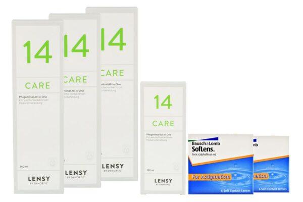 SofLens 66 Toric 2 x 6 Monatslinsen + Lensy Care 14 Halbjahres-Sparpaket
