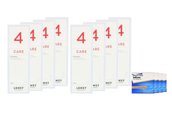 SofLens 66 Toric 4 x 6 Monatslinsen + Lensy Care 4 Jahres-Sparpaket