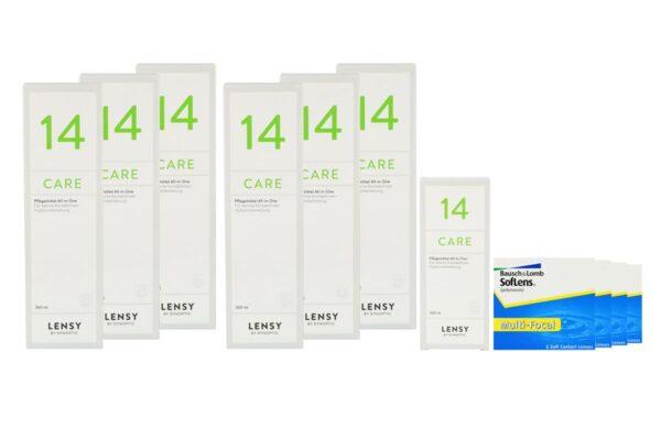 SofLens Multi-Focal 4 x 6 Monatslinsen + Lensy Care 14 Jahres-Sparpaket
