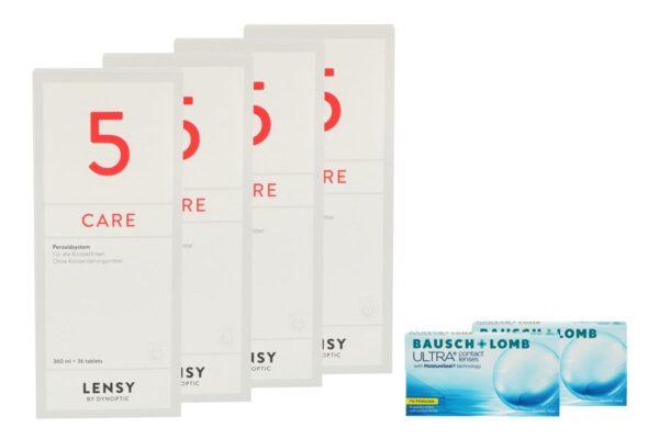 Ultra for Presbyopia 2 x 6 Monatslinsen + Lensy Care 5 Halbjahres-Sparpaket
