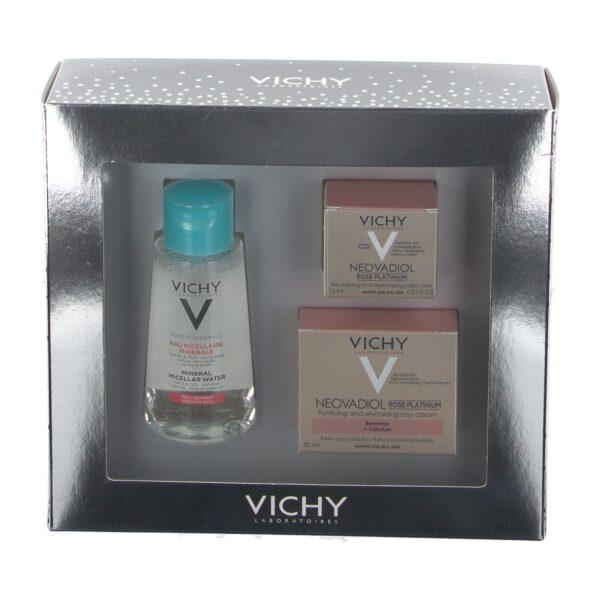 Vichy Neovadiol Rose Platinum Set Mizellenreinigungsfluid + revitalisierende Rosé-Creme + Nachtpflege