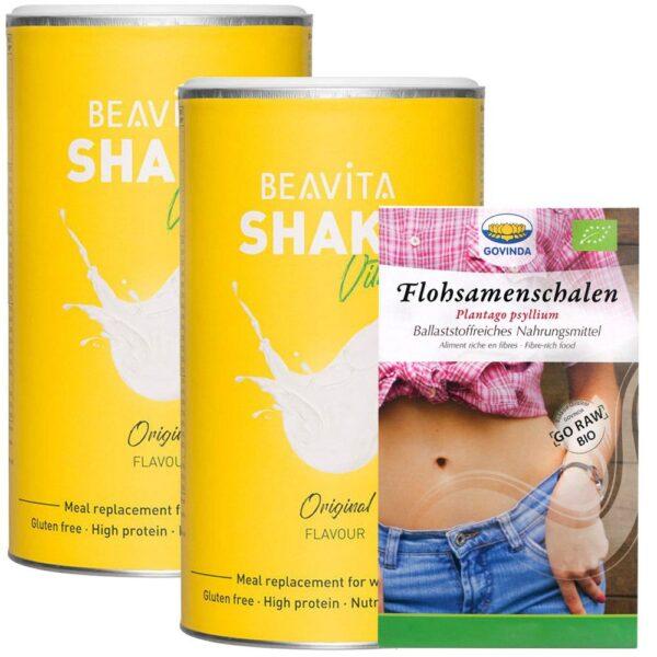 BEAVITA Ballaststoff Diät Vitalkost Doppelpack + GOVINDA Flohsamenschalen